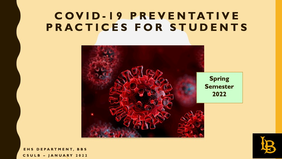 COVID-19 PREVENTATIVE PRACTICES FOR STUDENTS